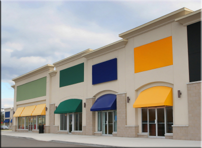 Colorful Retail Center: Painting, Wallcovering, Epoxy Flooring, Connecticut painters