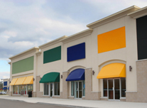 Colorful Retail Center:  Painters CT, Commercial painting contractor, northeast - industrial painting contractor -  industrial flooring contractor, Painter Connecticut