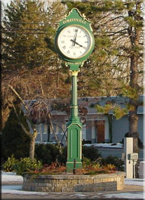 Forestville Clock outside Roberge Painting Company Corporate Offices: commercial painting contractors Connecticut