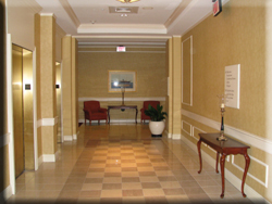 Marriott Hotel Mystic CT Lobby: wallcovering installation, CT painters