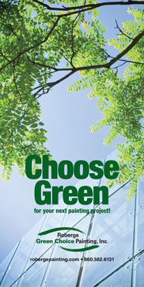 Earth Friendly Painting Contractor, Green Choice by Roberge Painting Company, Environmentally Responsible Painting