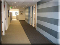 decorative commercial painting contractor, office hallway corridor, wallcovering installer, painter Connecticut