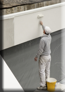 Painter at work: Commercial Painting Contractor, Wallcovering Installer, Epoxy Flooring, Connecticut, New York, New Jersey, Rhode Island, Massachusetts, New England, Northeast, Pennsylvania, Maine, Vermont, New Hampshire, Delaware; painters CT